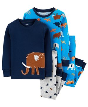 Carter's 4-Piece Animals Snug Fit Cotton PJs - Multicolor