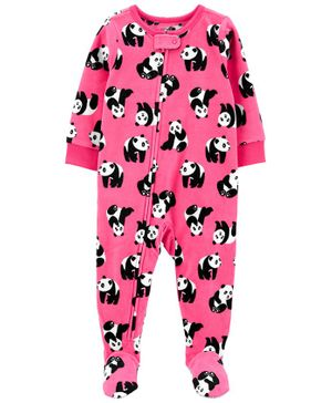 Carter's 1-Piece Panda Fleece Footie PJs - Pink