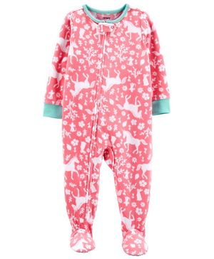 Carter's 1-Piece Unicorn Fleece Footie PJs - Pink