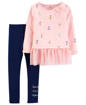 Carter's 2-Piece Dancer Peplum Top & Legging Set - Pink