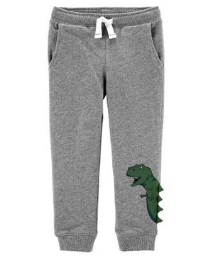 Carter's Dinosaur Pull-On French Terry Joggers - Grey