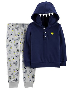 Carter's 2-Piece Monster Hoodie & Jogger Set - Navy Blue