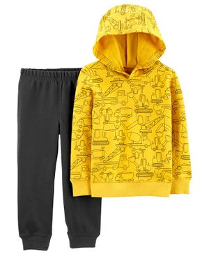 Carter's 2-Piece Construction Pullover Hoodie & Jogger Set - Yellow
