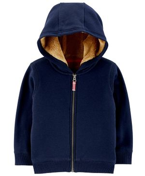 Carter's Zip Up Fleece Lined Hoodie - Blue