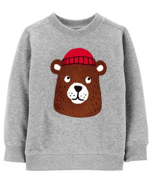 Carter's Bear Fleece Sweatshirt - Grey