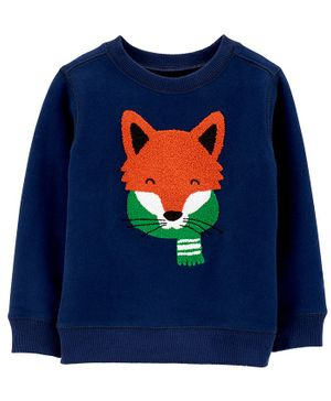 Carter's Fox Fleece Sweatshirt - Blue