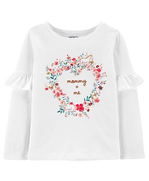 Carter's Mommy + Me Floral Jersey Tee - White