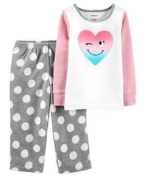 Carter's 2-Piece Heart Snug Fit Cotton & Fleece PJs - Multicolor