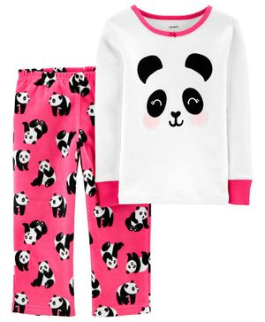Carter's 2-Piece Panda Snug Fit Cotton & Fleece PJs - Multicolor
