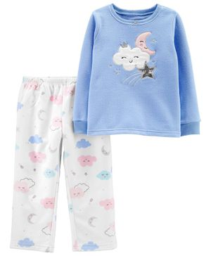 Carter's 2-Piece Cloud Snug Fit Cotton & Fleece PJs - Blue