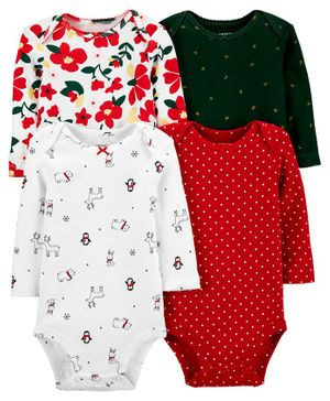 Carter's 4-Pack Holiday Original Bodysuits - Multicolor