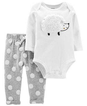 Carter's 2-Piece Hedgehog Bodysuit Pant Set - Grey