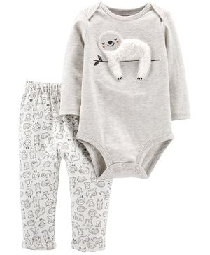 Carter's 2-Piece Sloth Bodysuit Pant Set - Grey