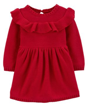 Carter's Ruffle Holiday Dress - Red