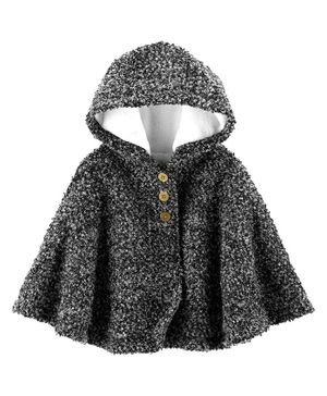 Carter's Hooded Cape Poncho - Grey