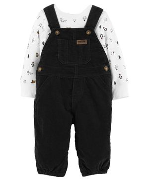 Carter's 2-Piece Holiday Tee & Overall Set - Black