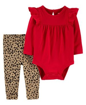 Carter's 2-Piece Holiday Bodysuit Pant Set - Red
