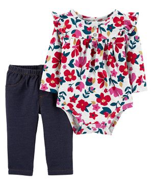 Carter's 2-Piece Floral Bodysuit Pant Set - Multicolor