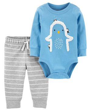 Carter's 2-Piece Penguin Bodysuit Pant Set - Blue