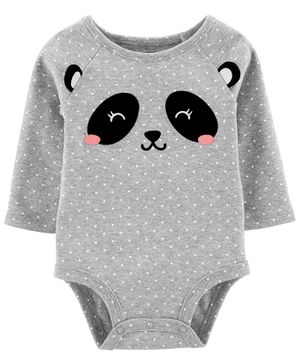 Carter's Panda Collectible Bodysuit - Grey