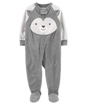 Carter's 1-Piece Husky Fleece Footie PJs - Grey