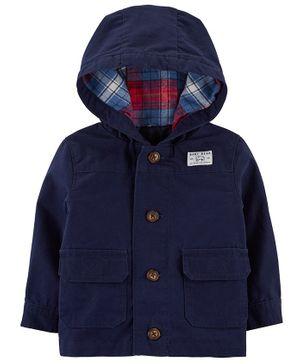 Carter's Button-Front Hooded Jacket - Navy Blue