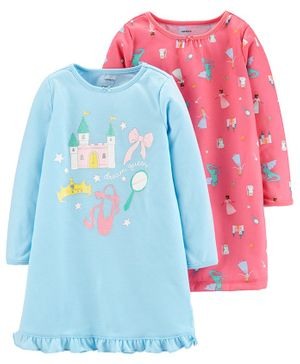 Carter's 2-Pack Castle Nightgowns - Pink Blue
