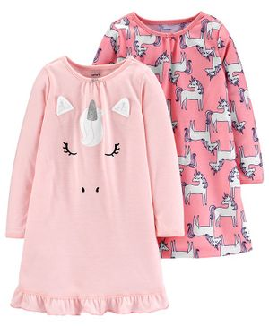 Carter's 2-Pack Unicorn Nightgowns - Pink