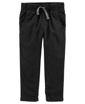 Carter's Pull-On Poplin Play Pants - Black