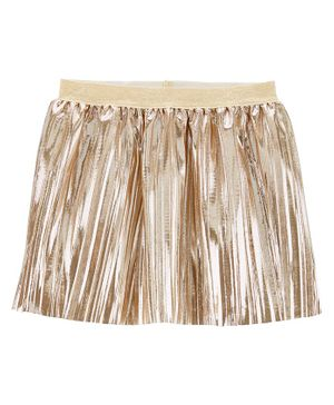Carter's Metallic Pleated Skirt - Golden