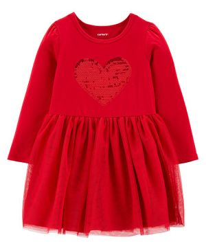 Carter's Sequin Jersey Tutu Dress - Red