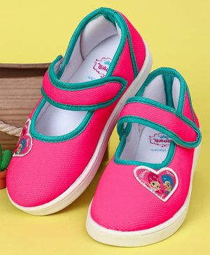 Shimmer & Shine Casual Shoes Heart Patch - Pink Green