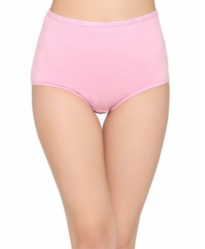 Clovia Solid High Waist Maternity Hipster Panty - Pink