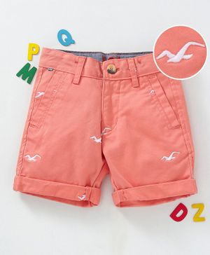 LOL - Land of Littles Bird Design Shorts - Peach
