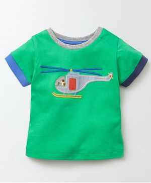 Awabox Plane Patch Half Sleeves Tee - Green