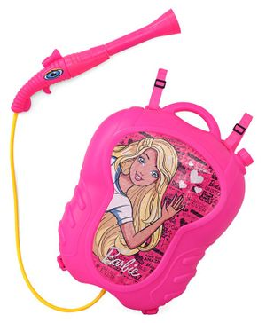 Barbie Holi Water Gun With Jumbo Tank - Pink