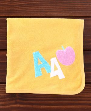 Child World Cotton Towel Apple Design - Yellow