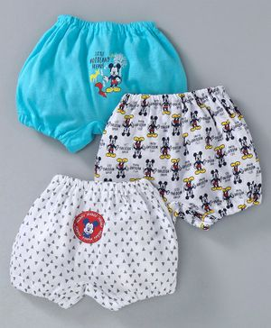 Bodycare Boxer Briefs Mickey Mouse Print Pack of 3 - Blue White