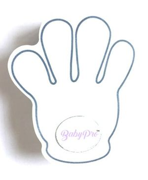 BabyPro Finger Pinch Guard Hand Shaped Door Stopper - White