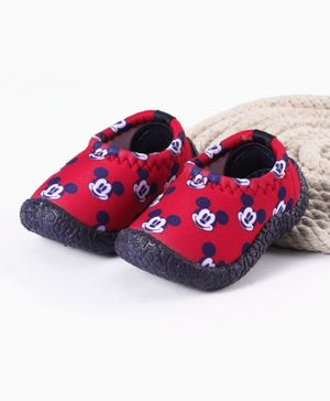 Mickey Printed Casual Shoes - Red