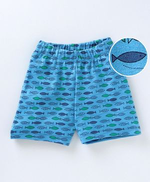 Crayonflake Ocean Theme Shorts - Blue