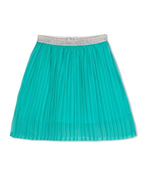 Young Birds Knife Pleated Skirt - Sea Green