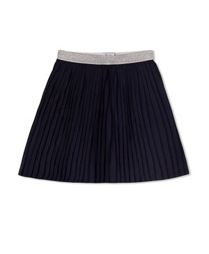 Young Birds Knife Pleated Skirt - Navy Blue