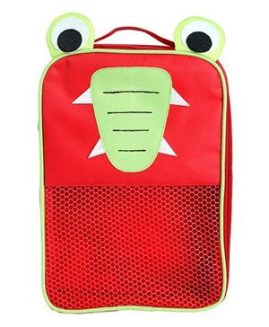My Gift Booth Crocodile Design Multiutility Travel Bag - Red