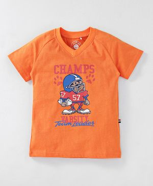JusCubs Champ Print Half Sleeves - Orange