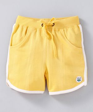 Solittle Solid Shorts With Side Line - Yellow