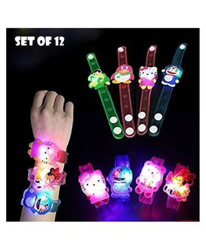 Party Propz Cartoon Characters LED Light Bracelets - Pack of 12