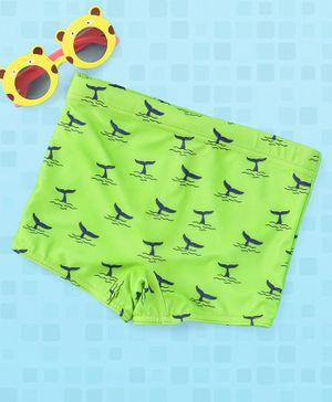 Babyhug Swimming Trunks Fish Print - Green