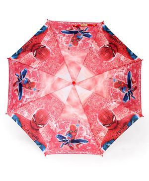 John's Umbrellas Spiderman Print  - Red