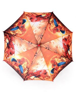 John's Umbrellas Spiderman Print - Brown